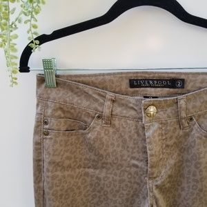 Liverpool Straight Jeans Animal Print W2 Let It Be